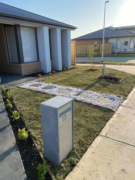 A lawn that has been refurbished in Melbourne.