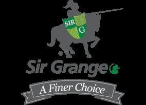 The logo for Sir Grange Zoysia grass.