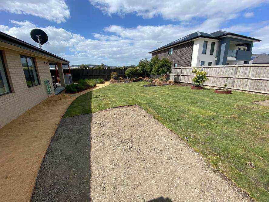 Tiftuf bermuda grass laid in a Melbourne backyard.
